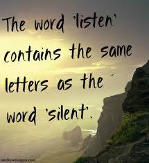 listens